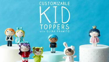 Customizable Kid Cake Toppers
