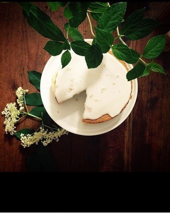 Elderflower cake. Image: Violet Cakes London