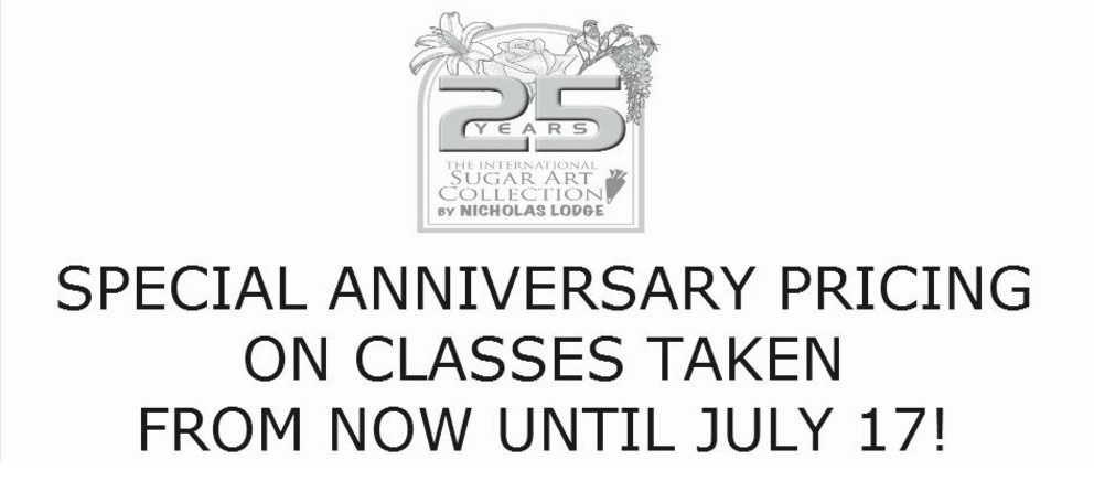 25th Anniversary Sale: 25% off Nicholas Lodge Classes!